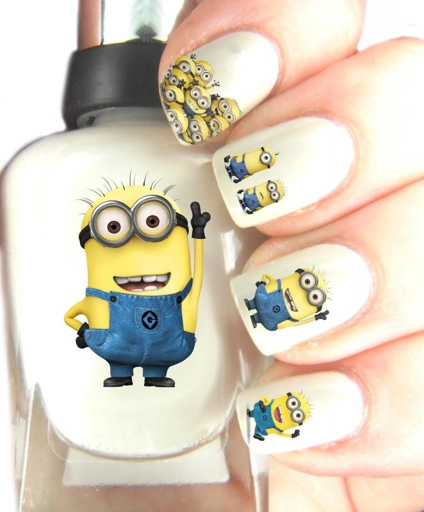 Nailsticker Nail Art Patch Nagel Sticker transfer, Dispicable Me ...
