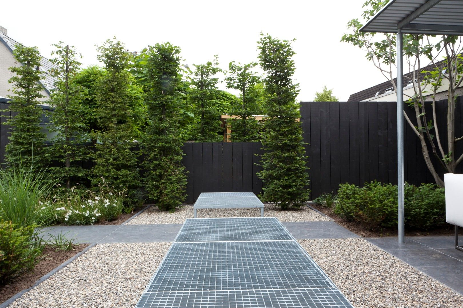 Kleine moderne tuin hoekwoning landscaping garden design
