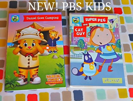 Daniel Tiger Goes Camping DVD and Peg + Cat DVD | Daniel tiger, Pbs ...