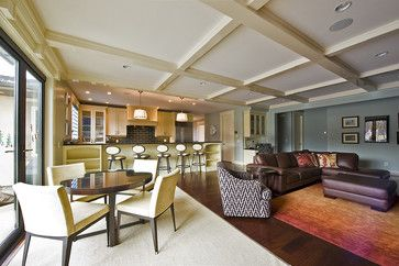 How To Combine Area Rugs In An Open Floor Plan Contemporary