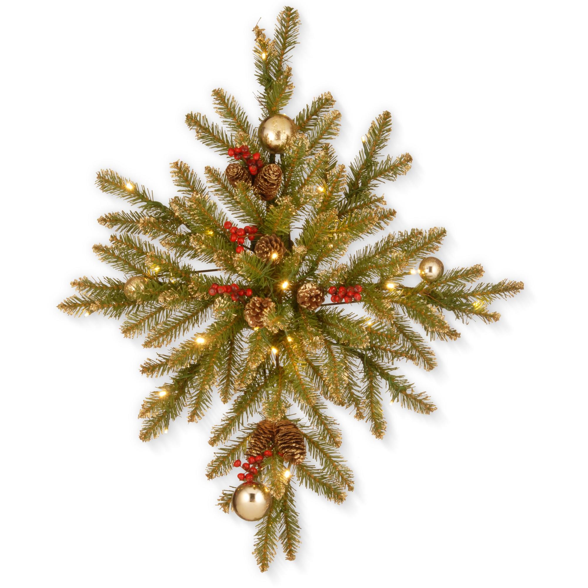 32 Glittery Gold Dunhill Fir Bethlehem Star with Battery