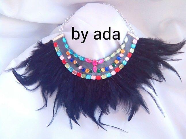 #collarplumas #collarbabero #collar #tendencias #moda #byada