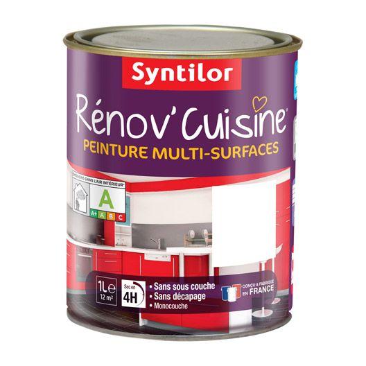 Peinture de rénovation Rénov\u0027cuisine SYNTILOR, blanc, 1 L
