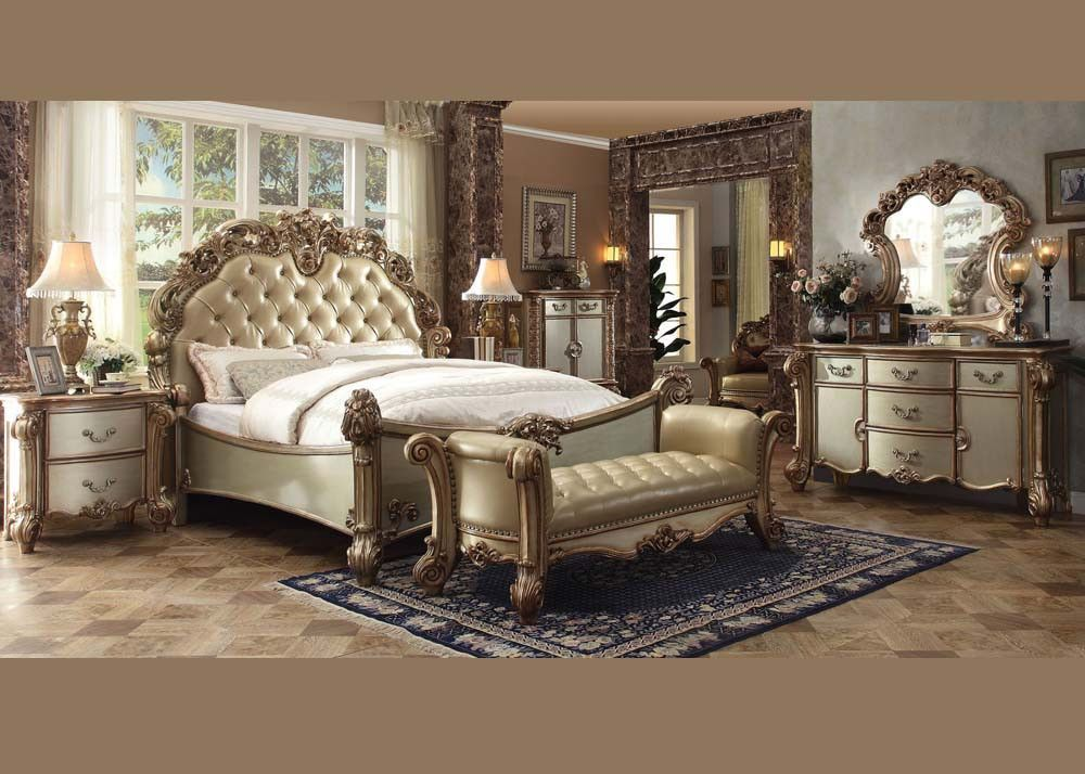 Acme Vendome Gold Bedroom Set Collection Bedroom Set King Bedroom Sets Bedroom Furniture Sets