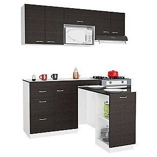 Combo mueble de cocina + mesa MDP | Muebles de cocina ...