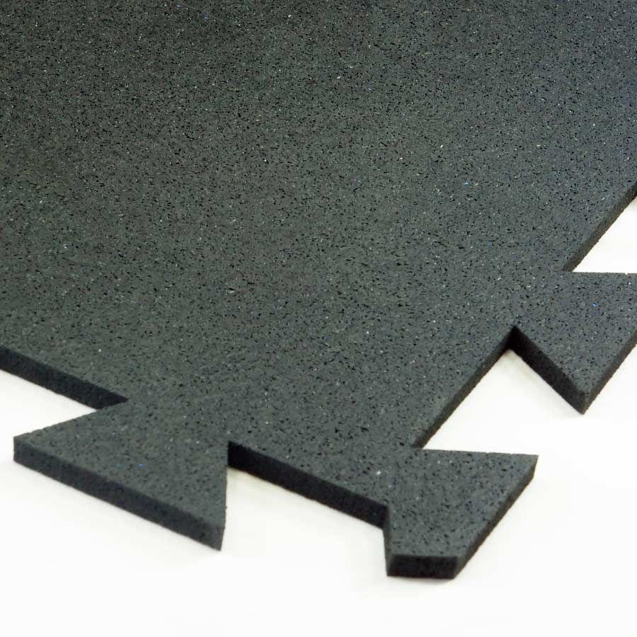 Geneva Rubber Tile 8 mm Black Interlocking rubber floor