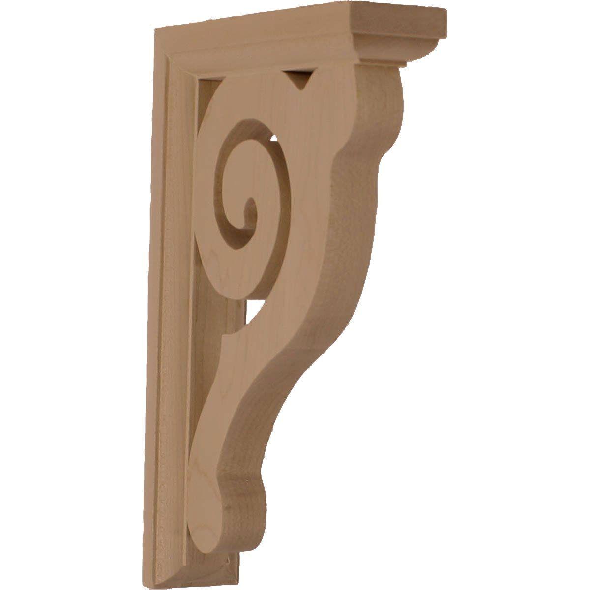 Ekena Millwork BKT01X06X08BURW 1 1/2-Inch W by 6-Inch D by 8 1/2-Inch H Bulwark Bracket, Rubber Wood - Wood Moldings And Trims - Amazon.com