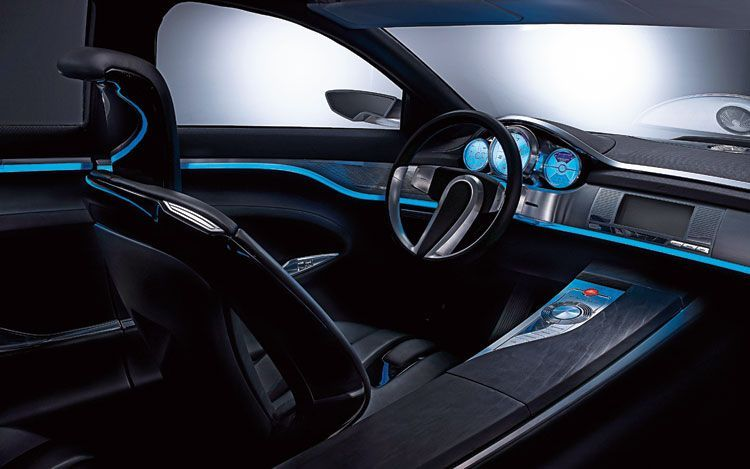 Car interior design blue cars interiors Pinterest Car