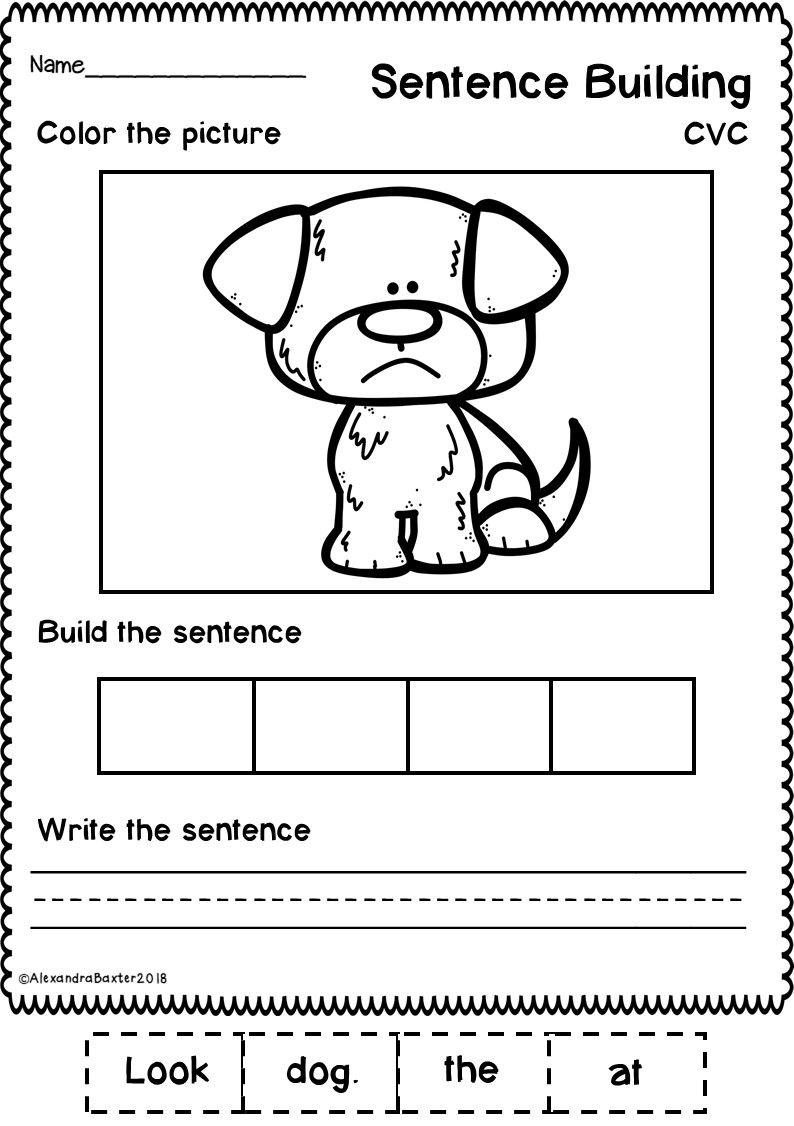 Sentence Building Worksheets Set 1 Sentence building