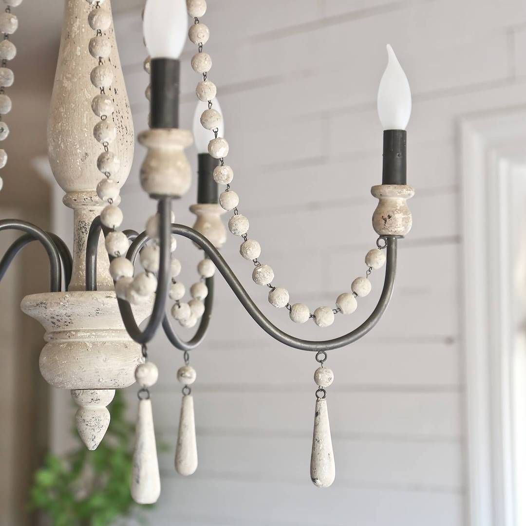 Rustic Farmhouse Chandelier In The Dining Room