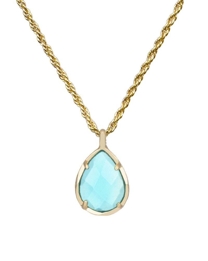 Kiri December Birthstone Necklace in Clear London Blue ...