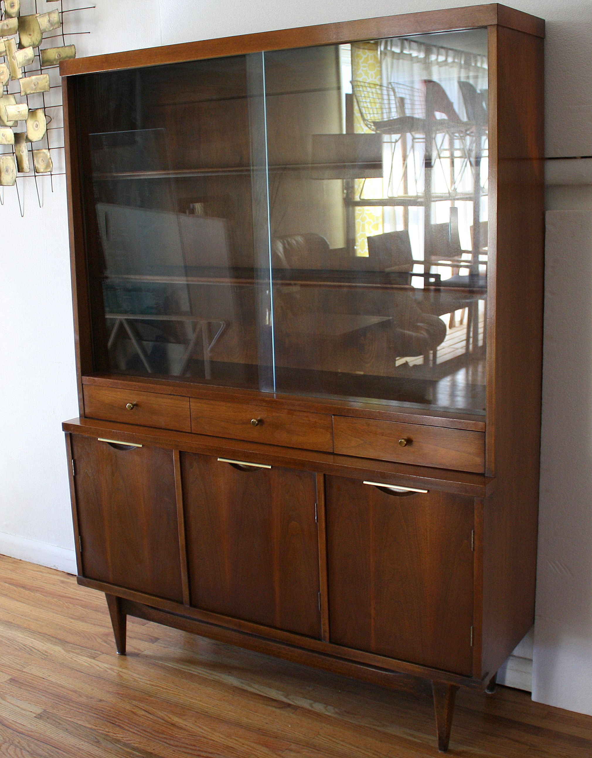 Mid Century Modern China Cabinet Hutch From Kent Coffey's Tableau Awesome Antique Dining Room Hutch Design Ideas