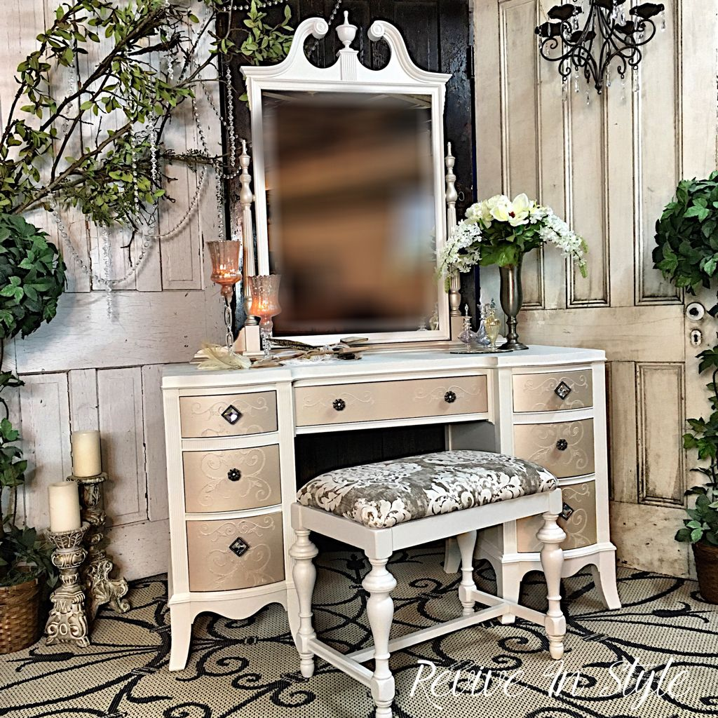 Painted Furniture Refinished Vanity Modern Masters
