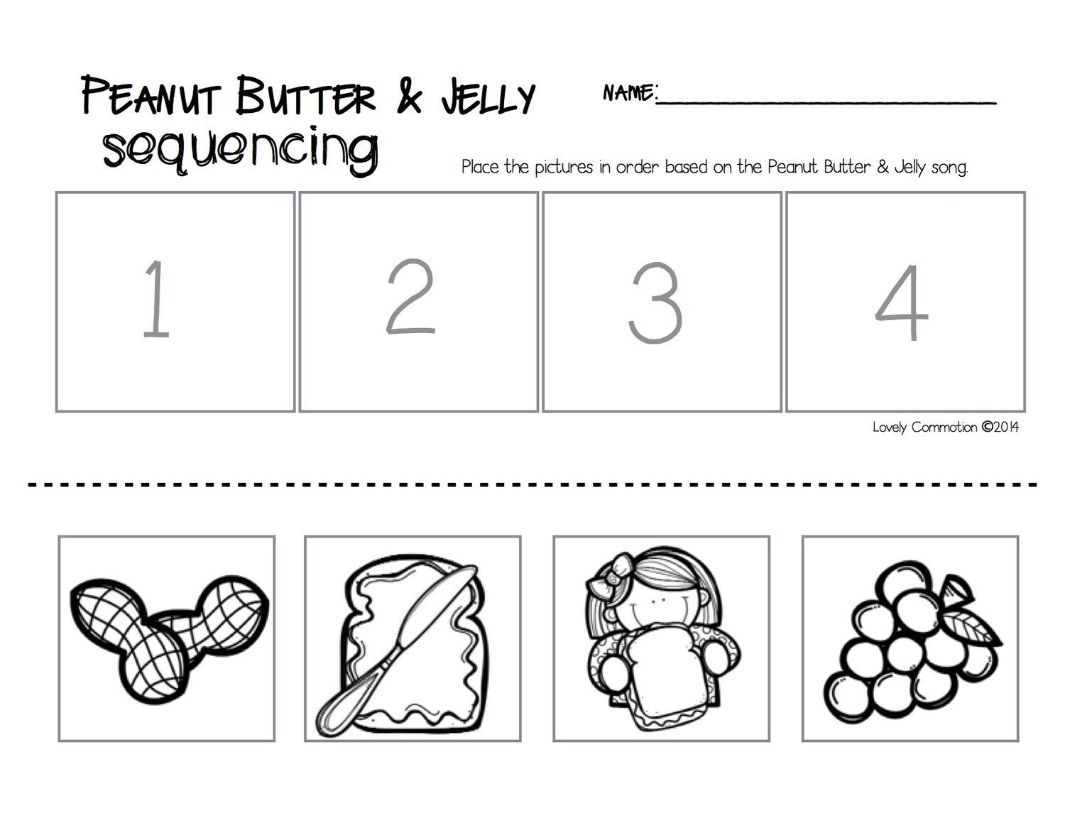Peanut Butter Amp Jelly Song And Sequencing