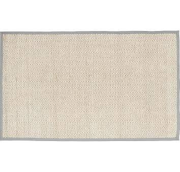 Chenille Jute Solid Border Rug, 3x5' Gray at Pottery Barn Kids - Accent Rugs - Kids' Bedroom Rugs - Area Rugs