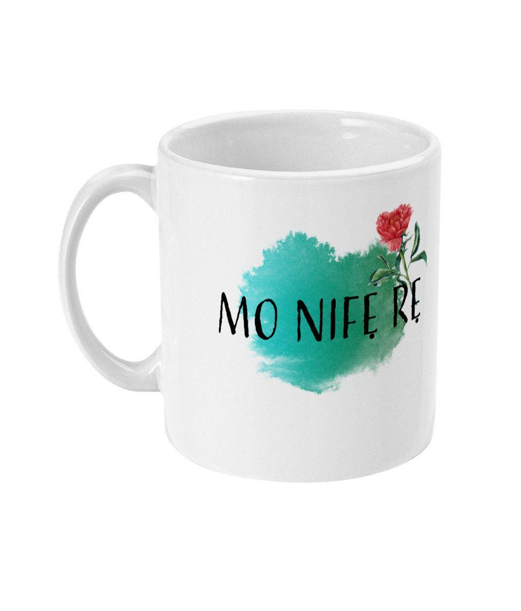 11oz / 15oz Ceramic Mug Print, I Love You Yoruba Mug