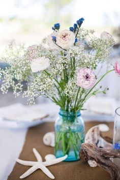 Rustic Beach Wedding Centerpieces Google Search