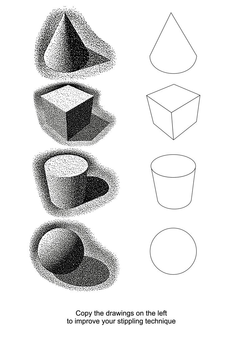 Image Result For Shading With Marker Pen Tone Techniques Viscom Stippling Art Art Worksheets Ink Drawing