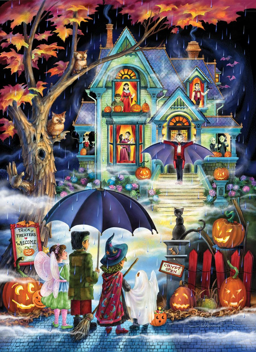 Fright Night - 1000pc Jigsaw Puzzle by Vermont Christmas