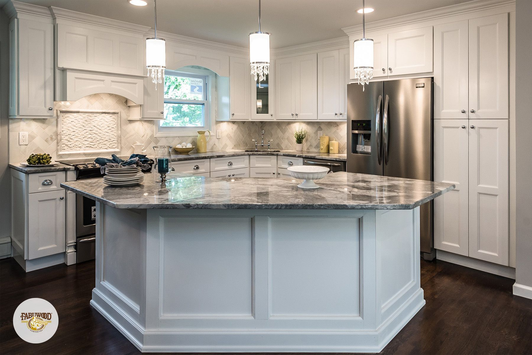 This stunning kitchen is apart of our Nexus line, which is showcased ...