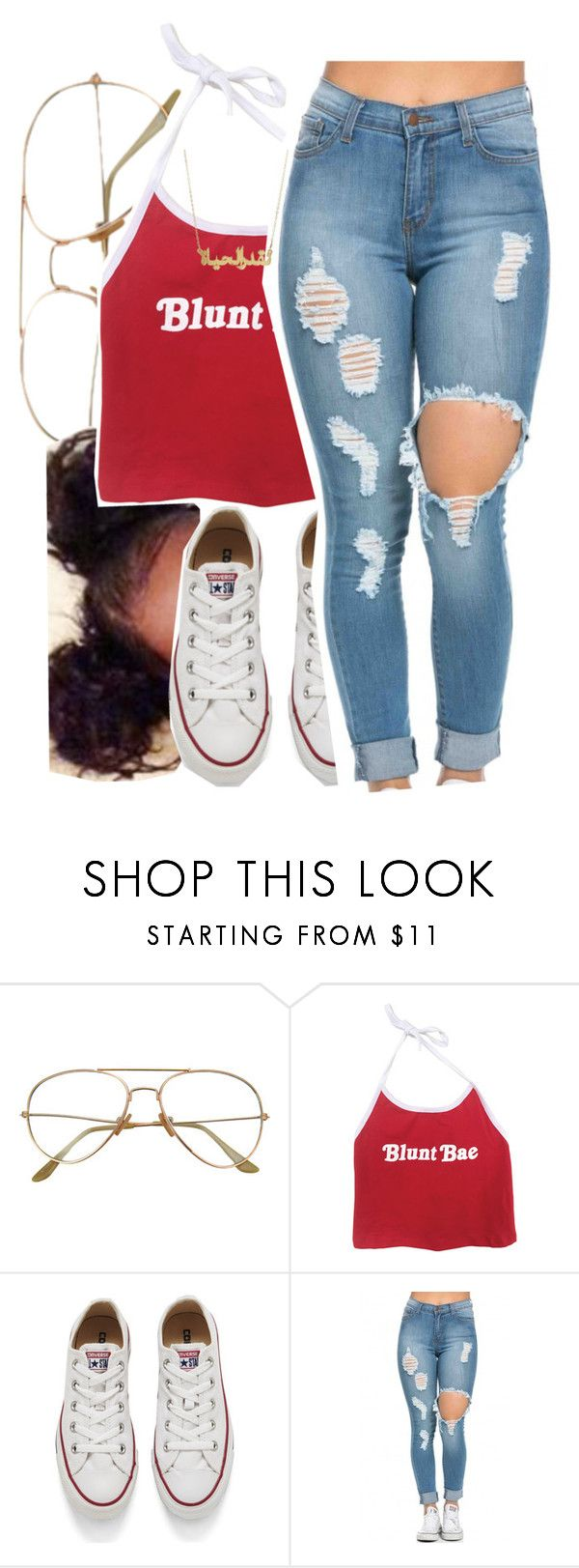 """""""4/24/16"""" by lookatimani ❤ liked on Polyvore featuring Converse"""