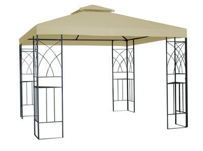 10ft X 10ft X 8 8ft Alexandria Outdoor Gazebo Tan By Empire Covers 359 99 Hardware Included For Quick Assembly Corner Sh Gazebo Outdoor Gazebos Shade Sail