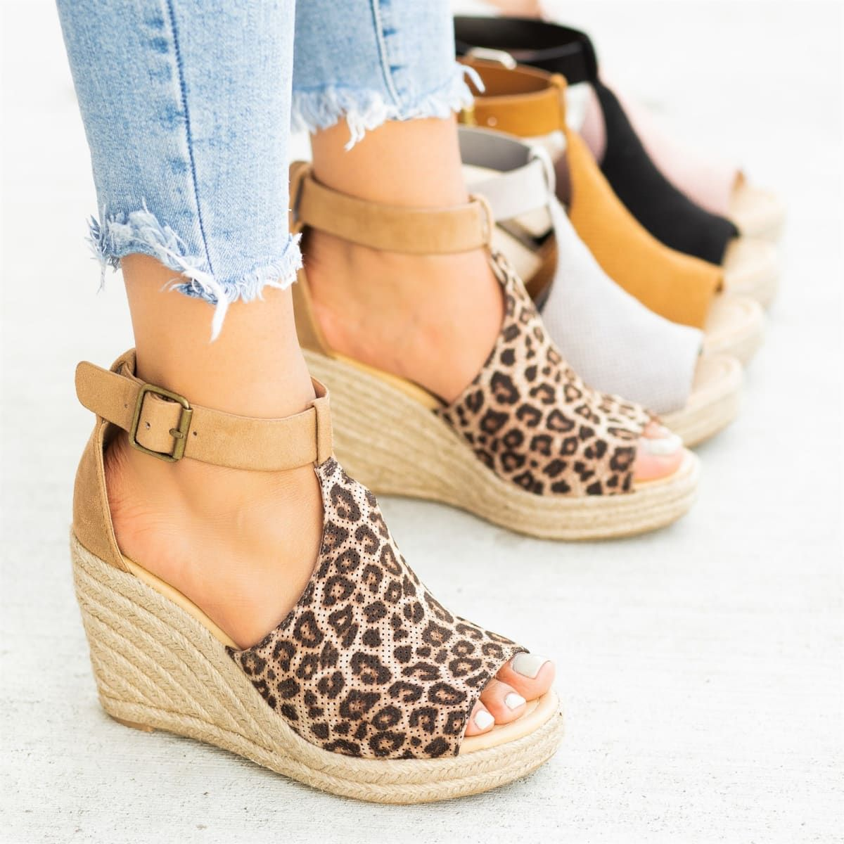0b7687e66b1eb Chic Espadrille Wedges Spring Shoes, Fall Shoes, Summer Shoes, Wedge Heels,  Shoes