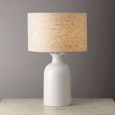Ceramic Small Bottle Table Lamp Table Lamps The White Company