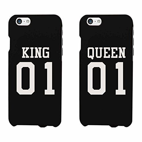 e5f2daf9b8 365 Printing King 01 Queen 01 Couple Phone Case Set Cute Matching Phone  Covers, http