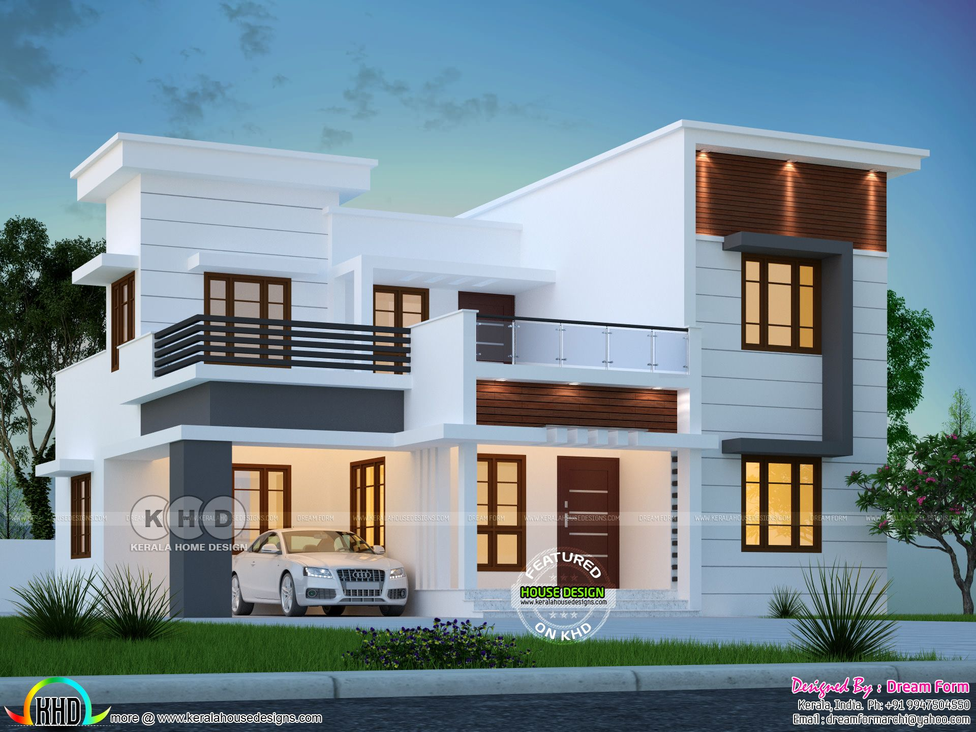 4 Bedroom 2102 Sq Ft Modern Home Design Kerala House Design Modern House Design Residential House