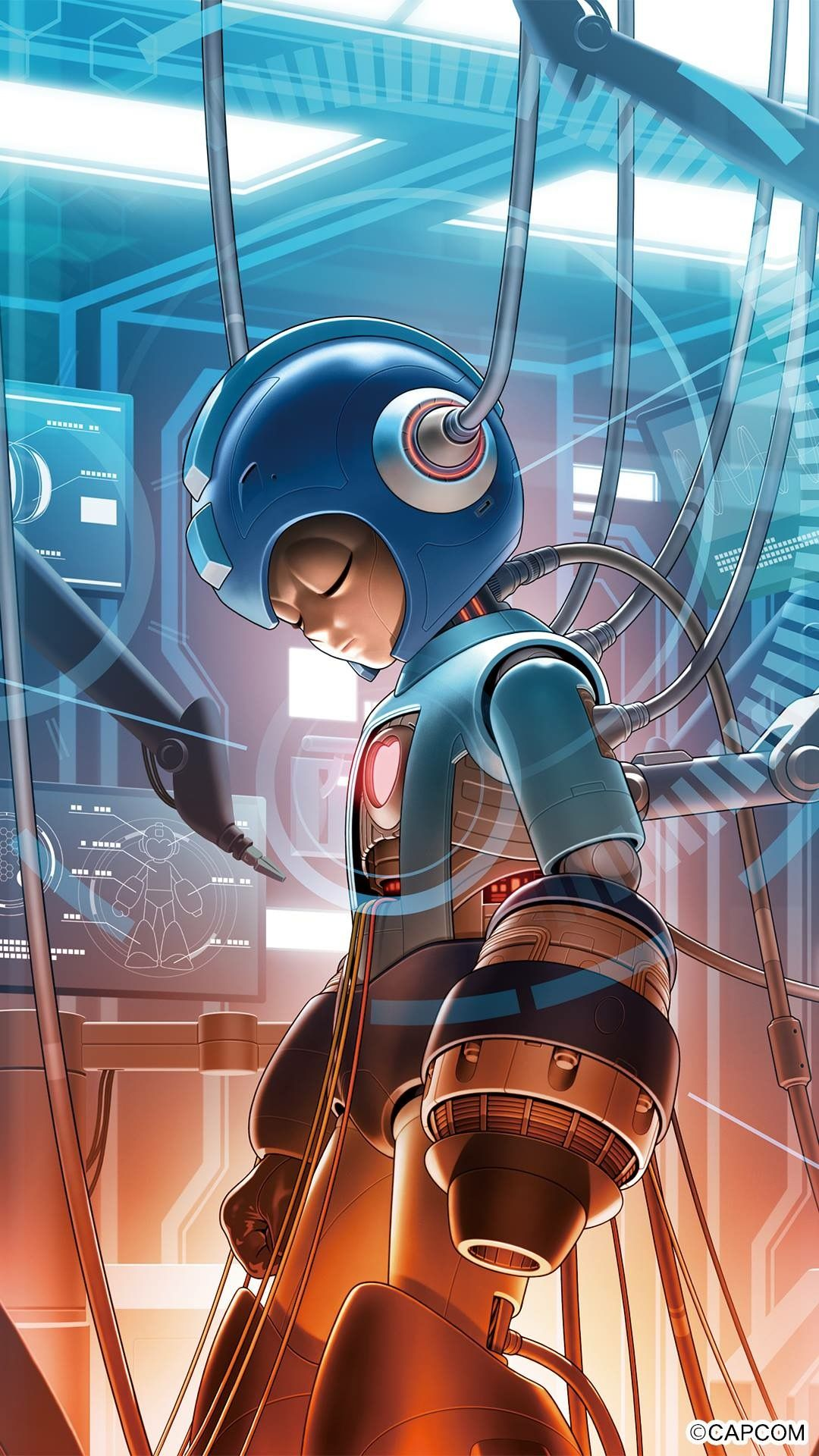 Artist Unknown Gaming Setup Mega Man Video Game Art