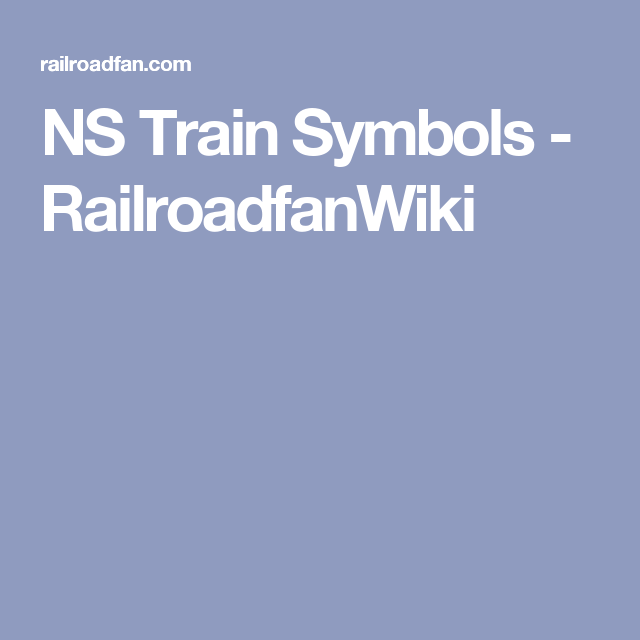 Ns Train Symbols Railroadfanwiki Railfanning Pinterest Symbols