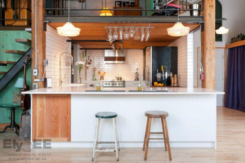 Cuisine loft industriel Cuisines loft Pinterest Armoire de