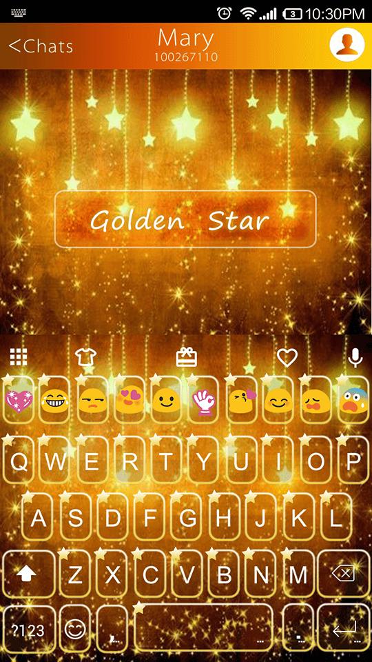 Golden Star Emoji Keyboard
