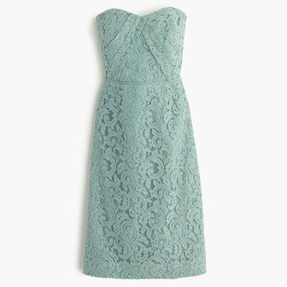 J.Crew - Kelsey strapless dress in Leavers lace