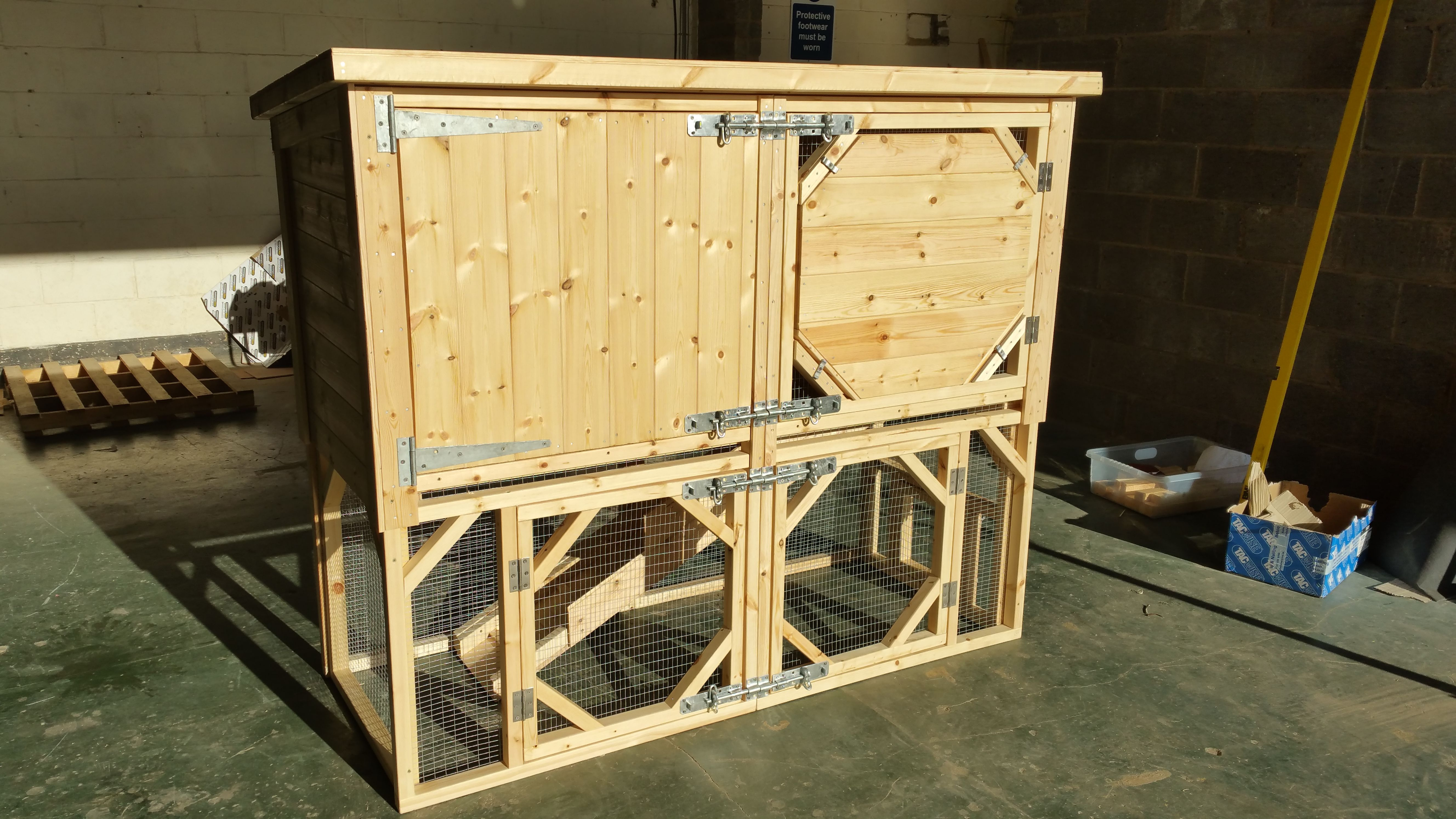solid product free wood shipping today pet overstock rabbit extreme supplies ii shack precision hutch