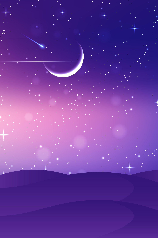 Moon Star Stars Light Background Moon And Stars Wallpaper Light Purple Wallpaper Purple Galaxy Wallpaper