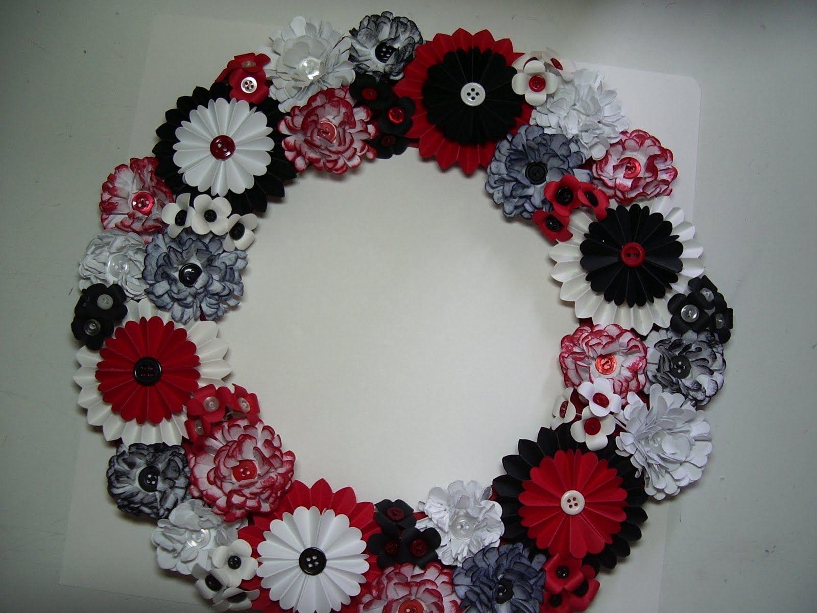 Flower Wreath Crafts Pinterest Paper Flower Wreaths Wreaths