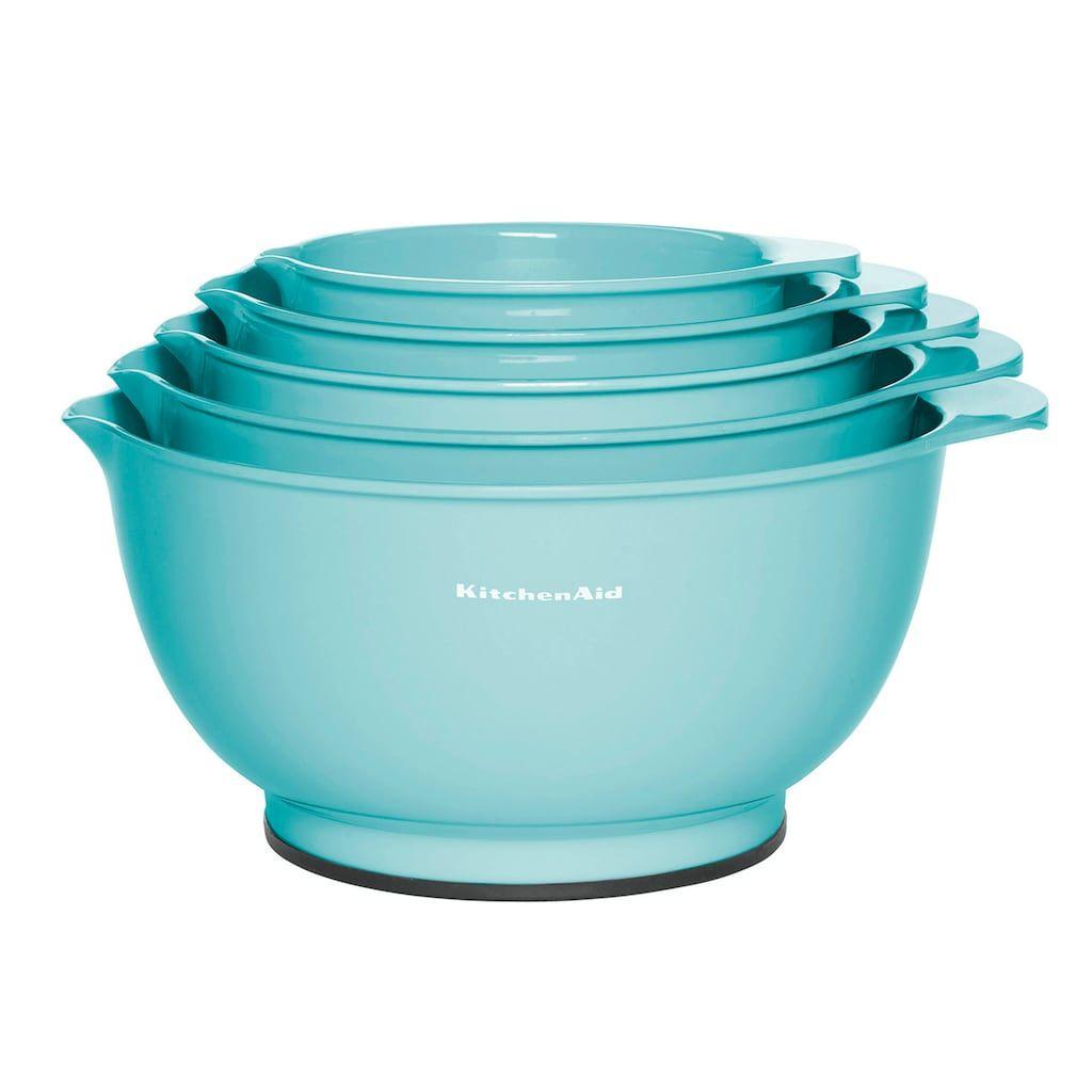 Kitchenaid aqua sky 5pc mixing bowl set kitchen aid