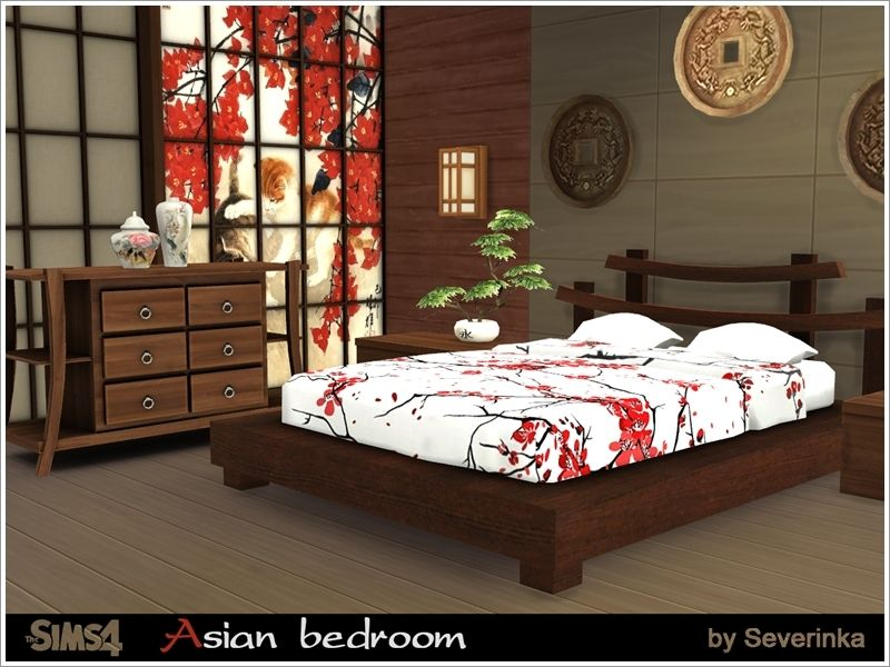 Set of bedroom furniture in Asian style. This set will be an ...