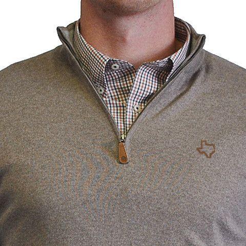 Texas 1/4-Zip Pullover Camel