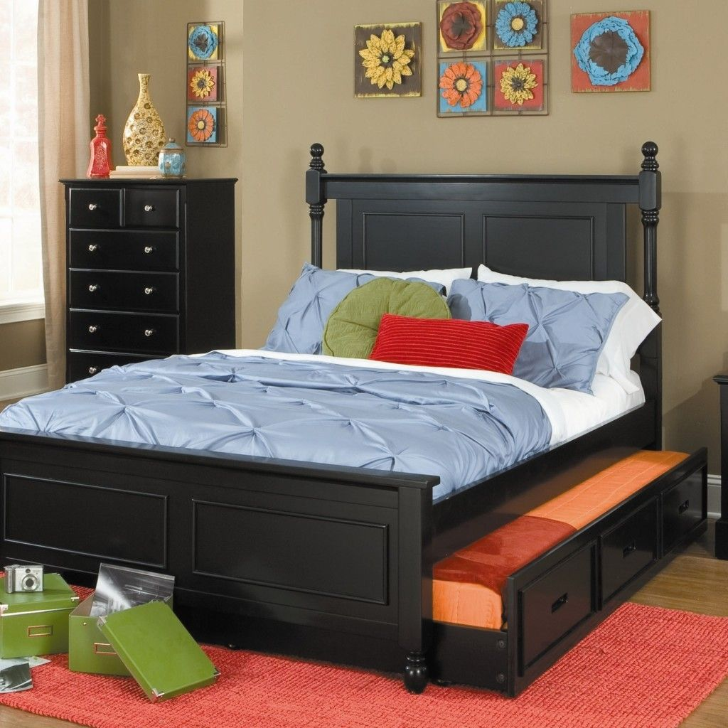 Queen Bed Frame With Twin Trundle Wayfair Bedroom Furniture Queen Trundle Bed Trundle Bed