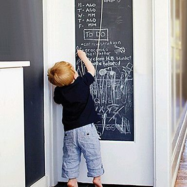 6 89 Diy Wall Stickers Removable Washable Environmental Friendly Blackboard Wall Decals Chalks Included 1roll Chalkboard Wall Decal Wall Stickers Kids Blackboard Wall