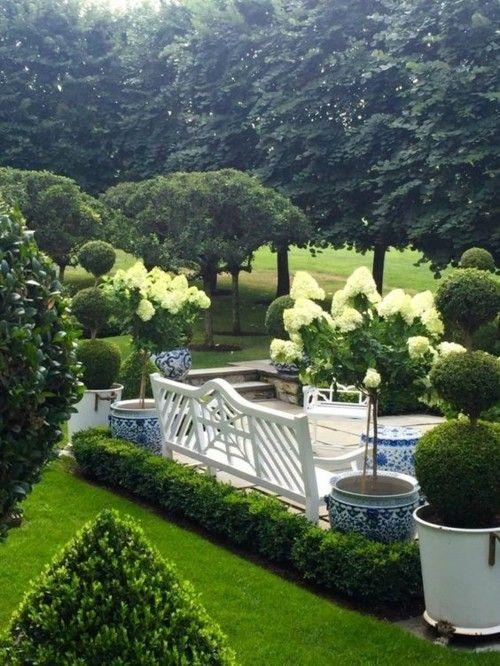 Schönen Garten Gestalten Ideen Wohlfühlzone Hortensien Viel Grün   Garten    Pinterest.