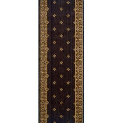"""Meridian Rugmakers Sikandra Espresso Area Rug Rug Size: Runner 2'7"""" x 12'"""