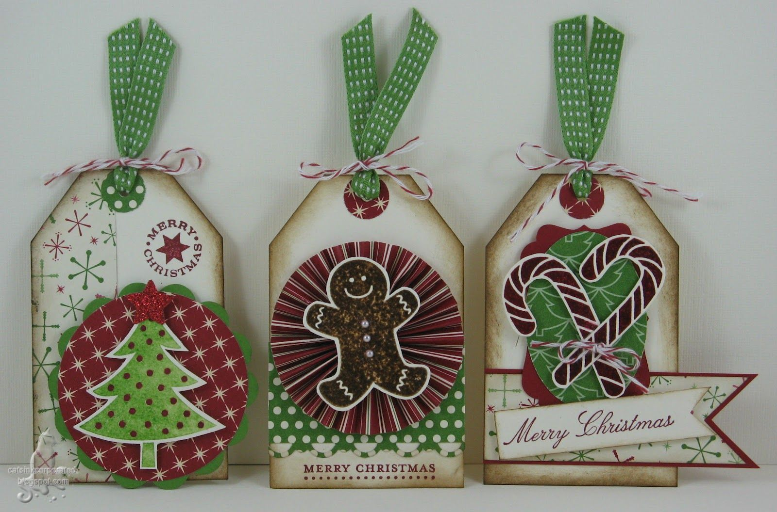 Stampinu up christmas tags by catus inkcorporated wrap it up