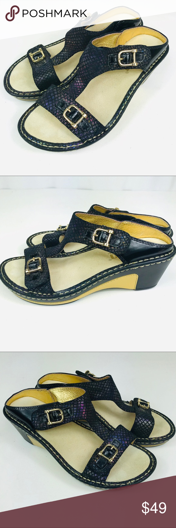 Leather sandal, size 35