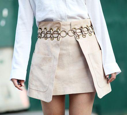 Chloe suede skirt SS15   Photo via THEFASHIONGUITAR