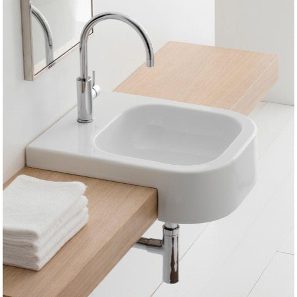 Next Recessed Sink Wall Mounted Bathroom Sinks Bathroom Sink Contemporary Bathroom Sinks