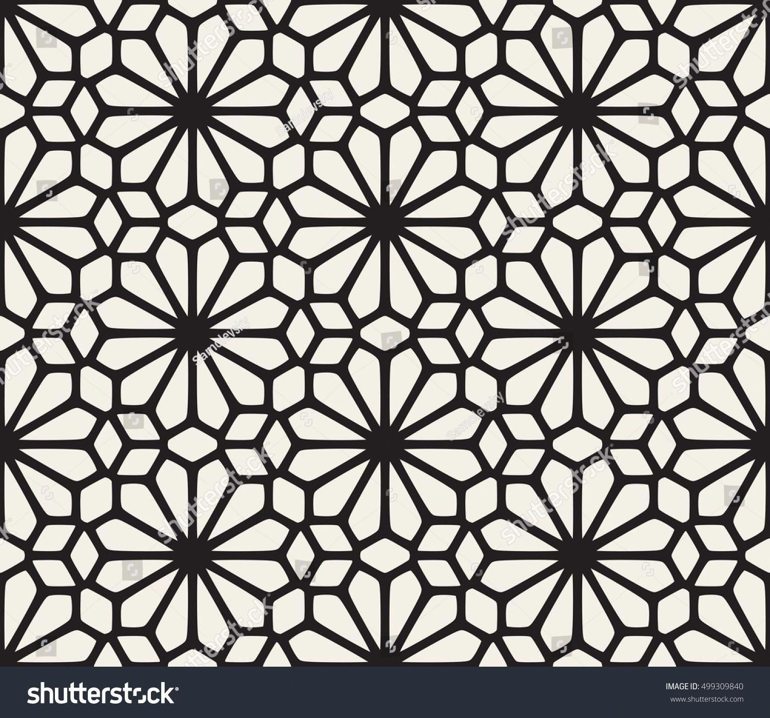 Vector Seamless Black And White Lace Floral Pattern Abstract Geometric Background Design Geometri Geometric Background Geometric Sleeve Tattoo Pattern Tattoo
